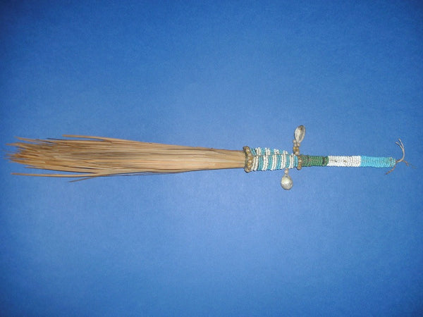 African Vintage Beaded Fly Whisk 2 The Cabinet Of