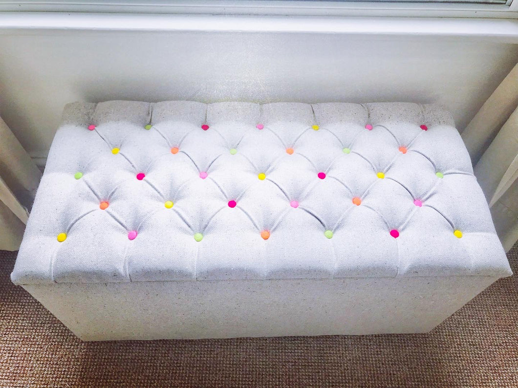 Recycled Wool Storage Ottoman