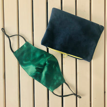 "Load image into Gallery viewer, Upcycled ""Pandemic"" Pouch - Velvet"