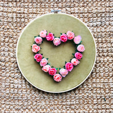 Load image into Gallery viewer, Artificial Silk Flower Love Heart Hoop