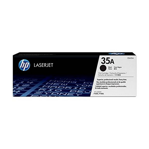 Original toner Hewlett Packard 35A CB435A Sort