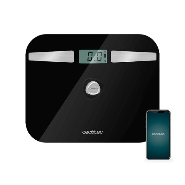Digital badevægt Cecotec EcoPower 10200 Smart Healthy LCD Bluetooth 180 kg Sort
