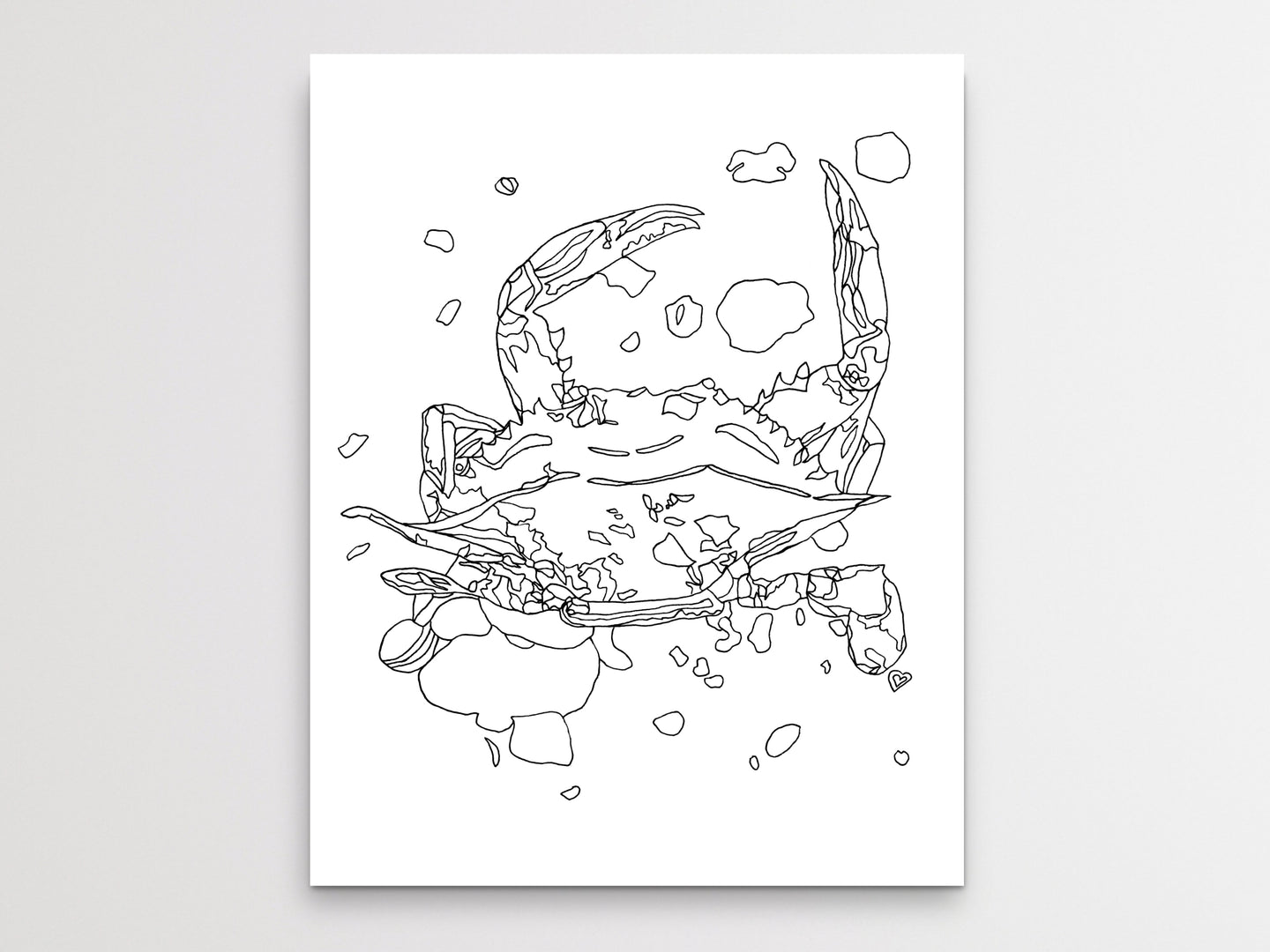 Maryland State Blue Crab. Maryland State Symbol Crab Line Art Print 1