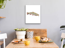 Load image into Gallery viewer, State Fish Art. Brook Trout Watercolor Art Print.