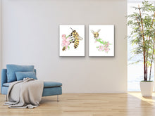 Load image into Gallery viewer, State Symbol Art. Honeybee Watercolor Art Print. State Symbol Art