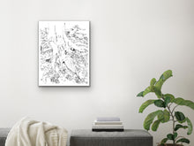 Load image into Gallery viewer, Tree Roots Line Art Print