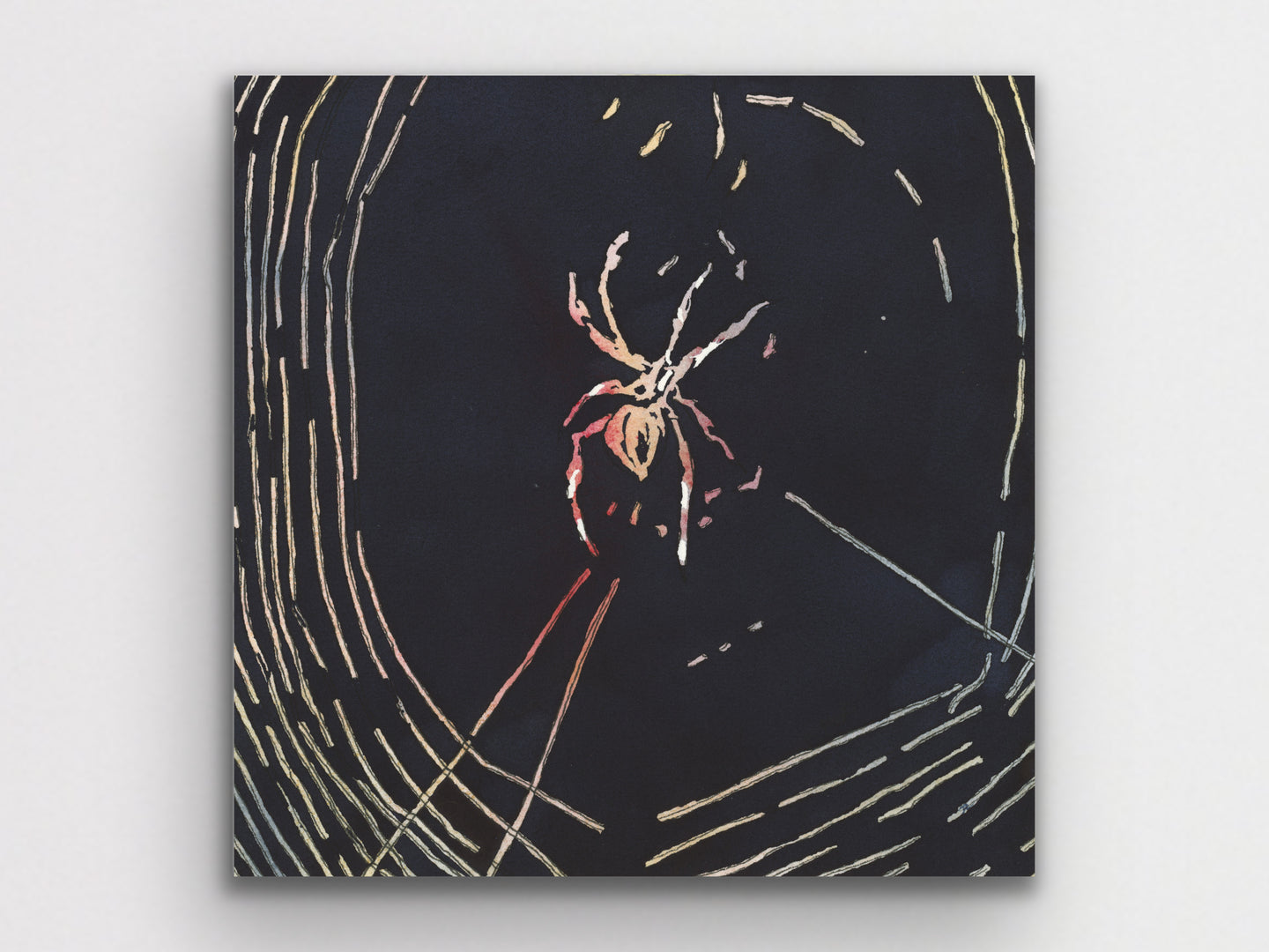 Watercolor Spider Art Print