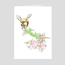 Load image into Gallery viewer, Honeybee Greeting Card. Note Card. Bee Card. Bee Greeting Card. Blank Card. Bee Greeting Card.