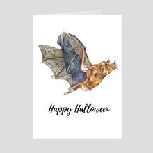 Load image into Gallery viewer, Happy Halloween Bat Greeting Card