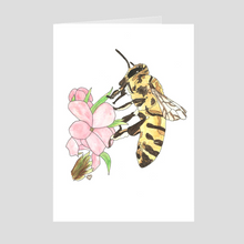 Load image into Gallery viewer, Honeybee Greeting Card 2