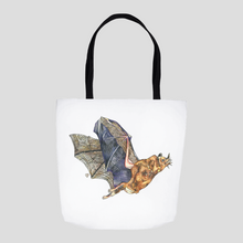 Load image into Gallery viewer, Bat Tote. Mexican Free Tailed Bat Tote. Bat Art Bag. Cute Tote. Colorful Bat. Art Gift.