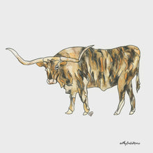 Load and play video in Gallery viewer, Longhorn Art Print