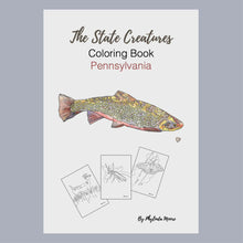 Load and play video in Gallery viewer, Pennsylvania State Creatures Coloring Book. Print and Color