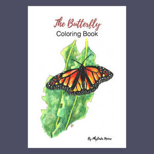 Butterfly Coloring Book. Instant Download: Print and Color