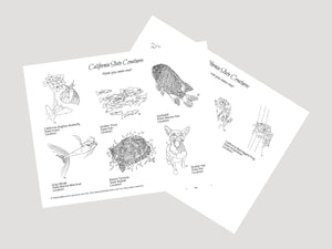 California State Creatures Have You Seen Me? Activity. Print and Play