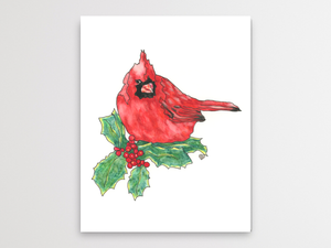 Cardinal Watercolor Print