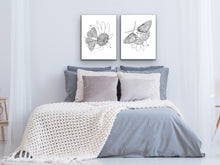 Load image into Gallery viewer, Maryland State Butterfly Print. Baltimore Checkerspot Butterfly Art