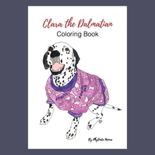 Load image into Gallery viewer, Clara the Dalmatian Coloring Pages! Print and Color
