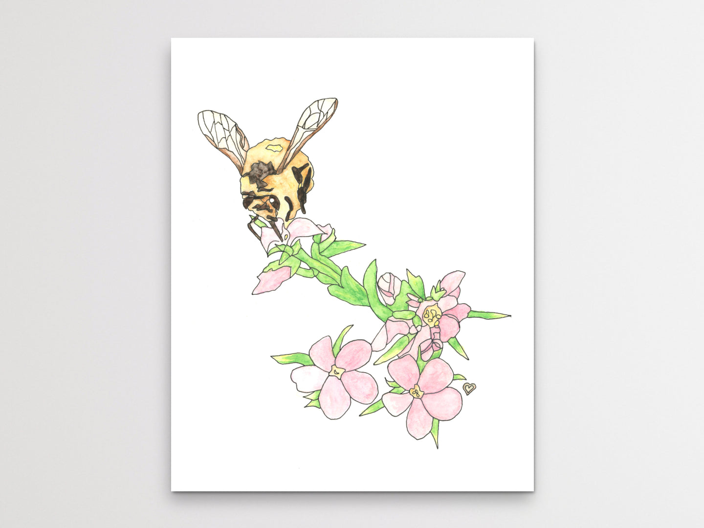 Honeybee Watercolor Art Print 2