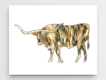 Load image into Gallery viewer, Longhorn Art Print
