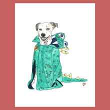 Load image into Gallery viewer, Pet in Costume!!! Custom Pet Portrait