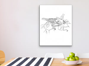 Maryland State Bird. Baltimore Oriole Line Art Print