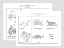 Load image into Gallery viewer, Maryland State Creatures Memory Game. Print and Play