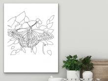 Load image into Gallery viewer, Oklahoma State Butterfly. Black Swallowtail Butterfly Line Art Print 1
