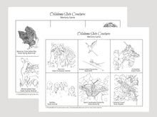 Load image into Gallery viewer, Oklahoma State Creatures Memory Game. Print and Play
