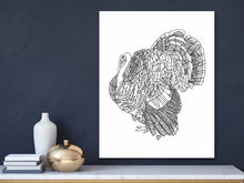 Load image into Gallery viewer, State Art. Wild Turkey Art Print. State Symbol Art
