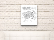 Load image into Gallery viewer, Pennsylvania State Hellbender. Eastern Hellbender Line Art Print 1
