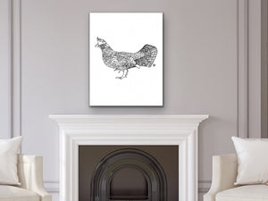 Pennsylvania State Bird. Ruffed Grouse Art Print. Pennsylvania State Symbol Art