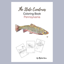 Load image into Gallery viewer, Pennsylvania State Creatures Coloring Book. Print and Color