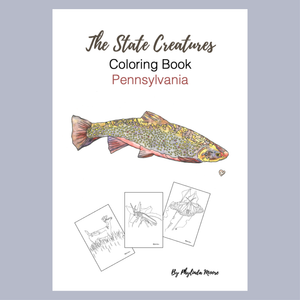 Pennsylvania State Creatures Coloring Book. Print and Color