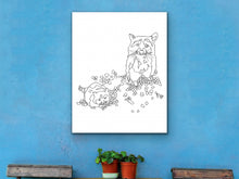 Load image into Gallery viewer, Raccoon Art Print