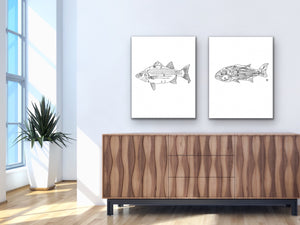 Maryland State Fish. Rockfish Art Print. Maryland State Symbol Art