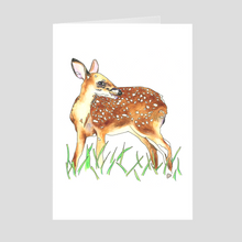 Load image into Gallery viewer, Deer Greeting Card 1