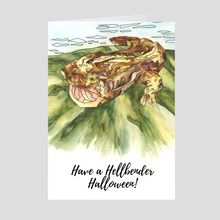 Load image into Gallery viewer, Hellbender Halloween Greeting Card