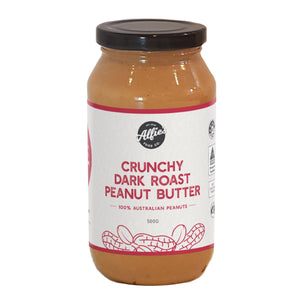 Alfie's Crunchy Dark Roasted Peanut Butter (500g)