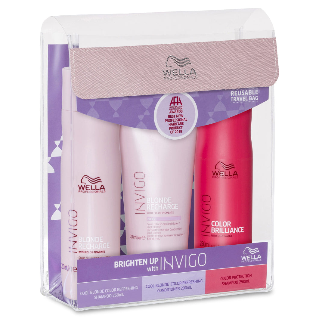 Wella Professionals Invigo Blonde Recharge Trio Pack