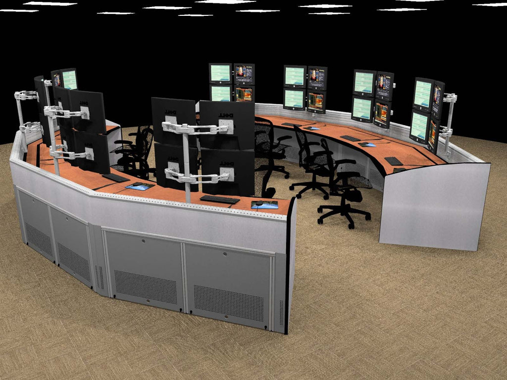 Curved Desk - 5 & Curved Desk - 5 | WSTD Inc. (Wall Street Trading Desks)