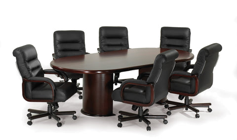 Conference Table - Medium Racetrack Top - Mahogany Finish