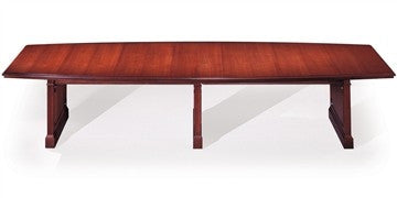 Conference Table - Large Boat Shape Top - Mahogany Finish