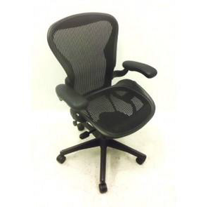 Herman Miller Aeron Chair - Charcoal Mesh - Used