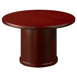 Conference Table - Round Top - Mahogany Finish