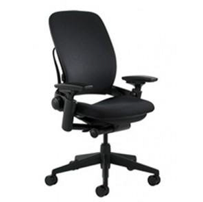Steelcase Leap Chair - Black Fabric - Used