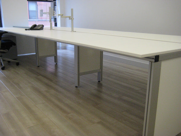 White Bench Desk