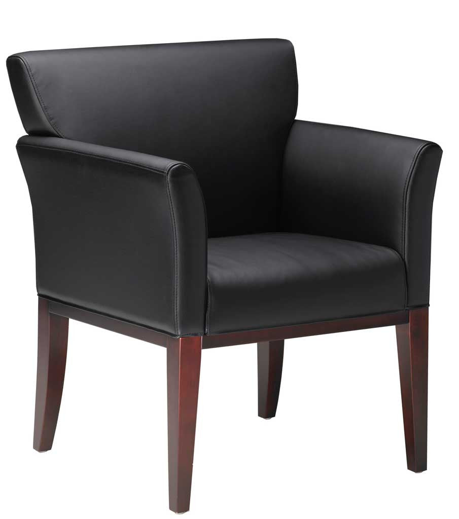 reception area chair wood leather wstd inc wall street