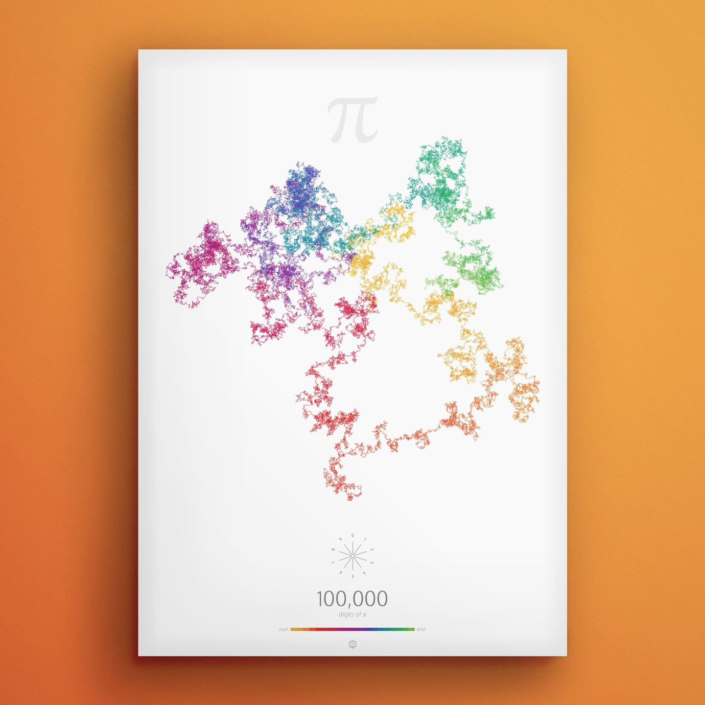 Art in Pi — 100 000 digits