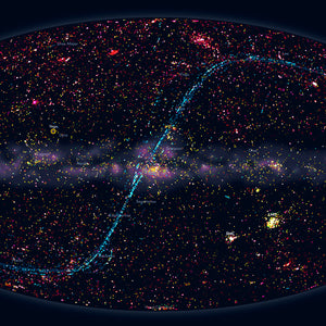 Sky map — Hubble Space Telescope — 2 (A3)